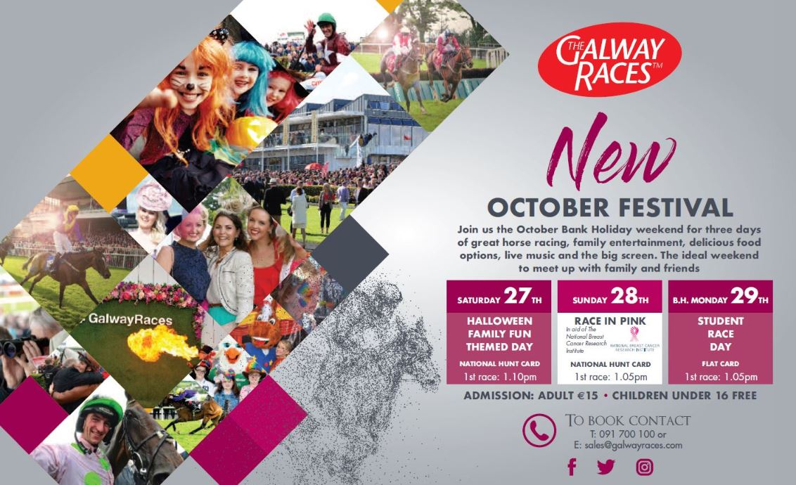 A New 3 Day October Festival For Galway Racecourse - Galway